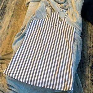 Striped Flowy Mini Dress